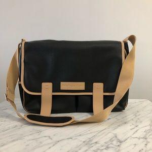 Leather briefcase satchel laptop cross body